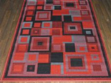 Modern Approx 6x4ft 120x170cm Woven Rugs Sale Top Quality Red/Black Squares